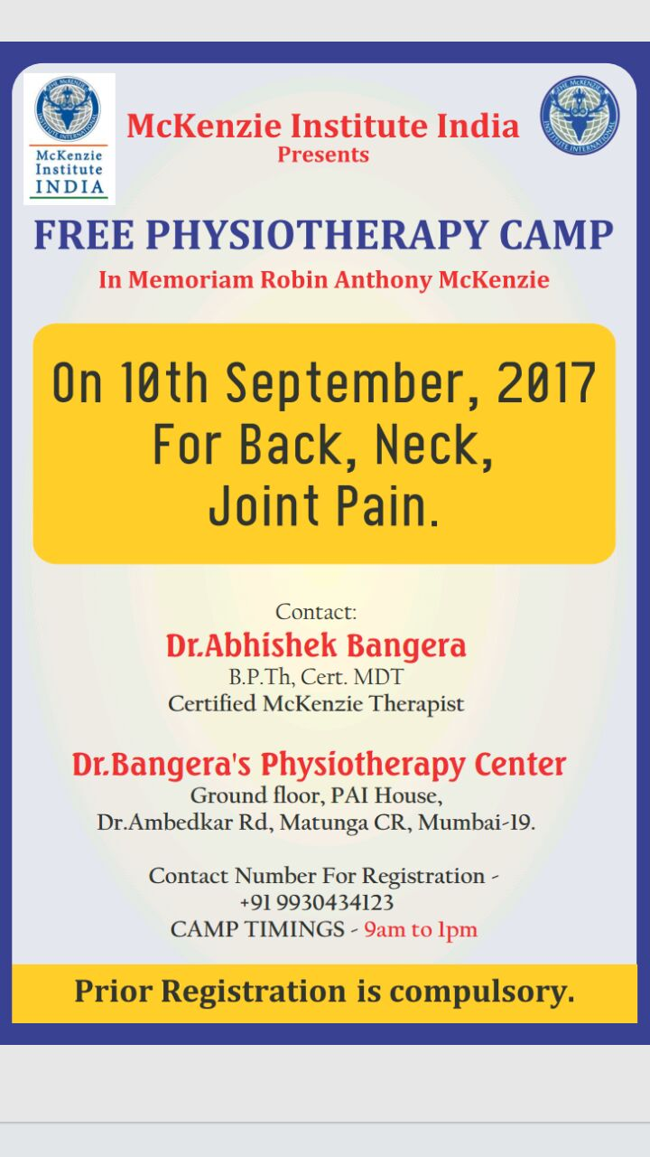 Free Physiotherapy Camp